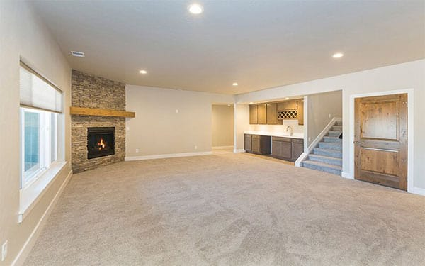 Empty White Basement