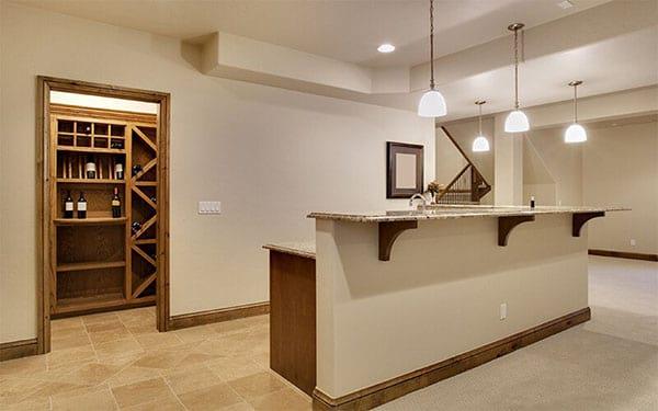 Basement Kitchen and Wine Storage